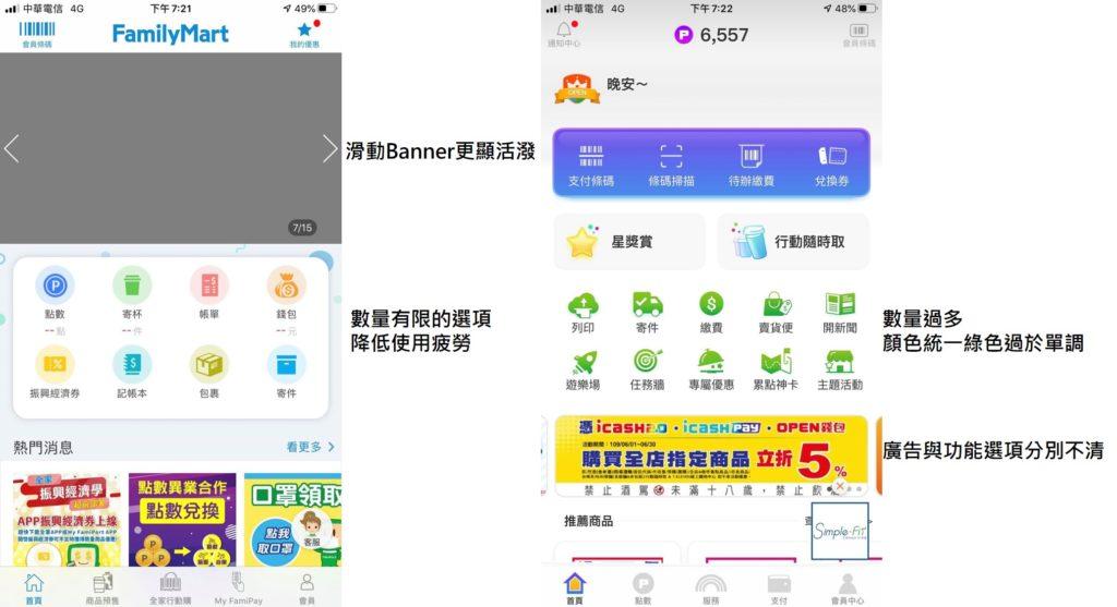 台股超商股選擇APP首頁界面